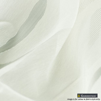 Gummerson - Mode Quartz Sheer 320cm  | Curtain & Curtain lining fabric - Fire Retardant, Green, Uncoated, Wide-Width, Whites, Plain