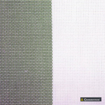 Gummerson - Avalon Stripe Apple Uncoated 140cm    Curtain Sheer Fabric - Grey, Traditional, Wide-Width, Plain