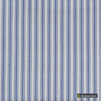 Gummerson - Ticking Stripe Sea Mist Uncoated 140cm  | Curtain & Upholstery fabric - Fire Retardant, Grey, Stripe, Uncoated, Wide-Width, Whites, Strie