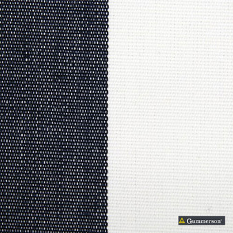Gummerson - Avalon Stripe Navy Uncoated 140cm    Curtain Fabric - Gold, Yellow, Stripe, Traditional, Uncoated, Fibre Blend, Standard Width