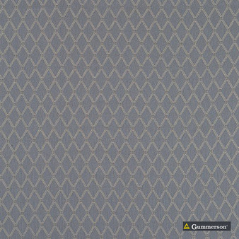Gummerson - Hampstead Steel Uncoated 280cm  | Curtain Sheer Fabric - Orange, Contemporary, Diamond, Harlequin, Uncoated, Natural, Print, Natural Fibre