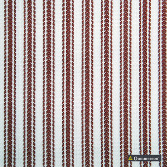 Gummerson - Ticking Stripe Red Uncoated 140cm    Curtain & Upholstery fabric - Black, Charcoal, Uncoated, Plain, Texture, Fibre Blend, Standard Width