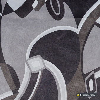 Gummerson - Picasso Charcoal Softweave 137cm  | Curtain & Upholstery fabric - Grey, Contemporary, Asian, Standard Width