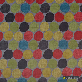 Gummerson - Soho Dove Softweave 137cm  | Curtain & Upholstery fabric - Black, Charcoal, Children, Contemporary, Kids, Uncoated, Geometric, Circles