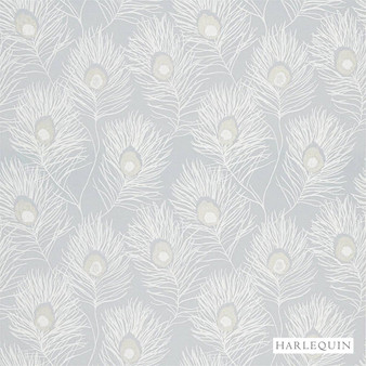 Harlequin Orlena - 132667  | Curtain Fabric - Grey, Feathers, Standard Width