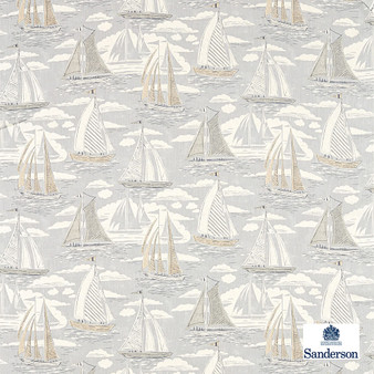 Sanderson Sailor - 226501  | Curtain & Upholstery fabric - Beige, Grey, Cushion, Natural, Nautical, Natural Fibre, Standard Width