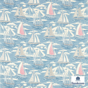 Sanderson Sailor - 226503  | Curtain & Upholstery fabric - Blue, Cushion, Natural, Nautical, Natural Fibre, Standard Width