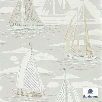 Sanderson Sailor - 216570  | Wallpaper, Wallcovering - Beige, Grey, Nautical