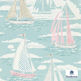 Sanderson Sailor - 216573  | Wallpaper, Wallcovering - Green, Nautical