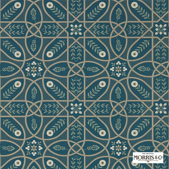 Morris & Co Brophy Trellis - 216699  | Wallpaper, Wallcovering - Green, Floral, Garden, Botantical