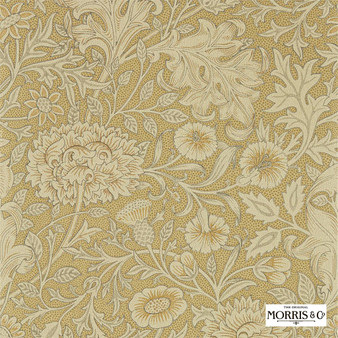 Morris & Co Double Bough - 216681  | Wallpaper, Wallcovering - Gold, Yellow, Floral, Garden, Botantical, Jacobean