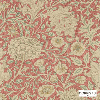 Morris & Co Double Bough - 216683  | Wallpaper, Wallcovering - Orange, Floral, Garden, Botantical, Jacobean