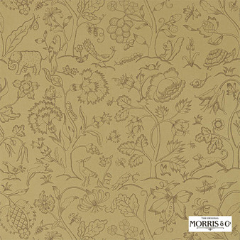 Morris & Co Middlemore - 216696  | Wallpaper, Wallcovering - Green, Animals, Fauna, Birds, Dogs, Elephants, Dogs