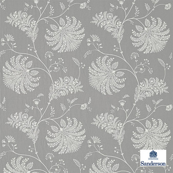 Sanderson Mapperton - 236337  | Curtain Fabric - Grey, Floral, Garden, Botantical, Cushion, Fibre Blend, Standard Width