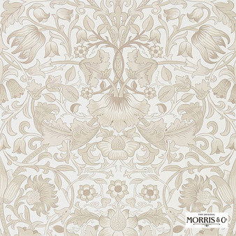 Morris & Co Pure Lodden - 216031  | Wallpaper, Wallcovering - Beige, Floral, Garden, Botantical, Art Nouveau, Craftsman