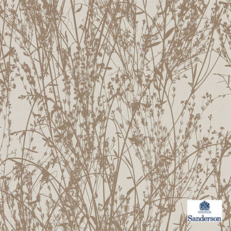 Sanderson Meadow Canvas - 215693  | Wallpaper, Wallcovering - Beige, Contemporary, Floral, Garden, Botantical