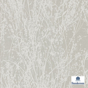 Sanderson Meadow Canvas - 215694  | Wallpaper, Wallcovering - Grey, Contemporary, Floral, Garden, Botantical