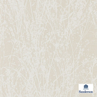 Sanderson Meadow Canvas - 215695  | Wallpaper, Wallcovering - Beige, Contemporary, Floral, Garden, Botantical