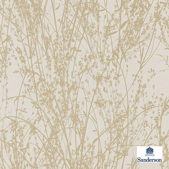 Sanderson Meadow Canvas - 215697  | Wallpaper, Wallcovering - Beige, Contemporary, Floral, Garden, Botantical