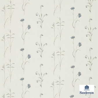 Sanderson Meadow Grasses - 235604  | Curtain Fabric - Tan, Taupe, Floral, Garden, Botantical, Cushion, Shabby Chic, Fibre Blend, Standard Width
