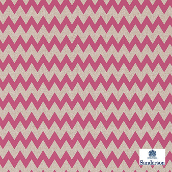Sanderson Zagora - 215427  | Wallpaper, Wallcovering - Pink, Purple, Chevron, Zig Zag