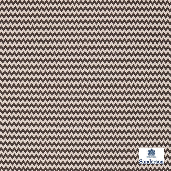 Sanderson Zagora - 235324  | Curtain & Upholstery fabric - Brown, Cushion, Chevron, Zig Zag, Fibre Blend, Standard Width