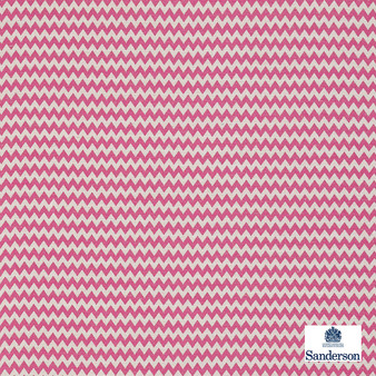 Sanderson Zagora - 235327  | Curtain & Upholstery fabric - Pink, Purple, Cushion, Chevron, Zig Zag, Fibre Blend, Standard Width