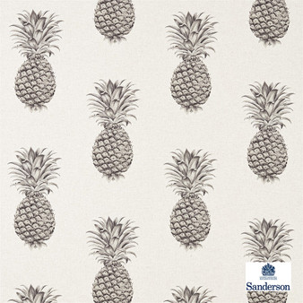 Sanderson Pineapple Royale - 226299  | Curtain & Upholstery fabric - Brown, Cushion, Kitchen, Tropical, Print, Fibre Blend, Standard Width