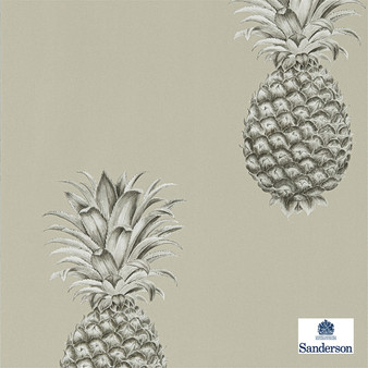 Sanderson Pineapple Royale - 216323  | Wallpaper, Wallcovering - Tan, Taupe, Kitchen, Tropical, Print