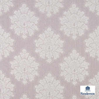 Sanderson Laurie - 236118    Upholstery Fabric - Pink, Purple, Traditional, Cushion, Damask, Natural, Natural Fibre, Standard Width