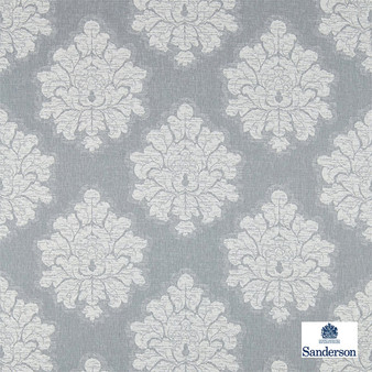 Sanderson Laurie - 236120    Upholstery Fabric - Grey, Traditional, Cushion, Damask, Natural, Natural Fibre, Standard Width