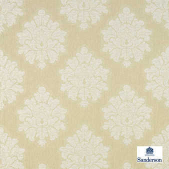 Sanderson Laurie - 236122    Upholstery Fabric - Green, Traditional, Cushion, Damask, Natural, Natural Fibre, Standard Width