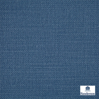 Sanderson Arley - 245798  | Upholstery Fabric - Washable, Blue, Cushion, Natural, Plain, Texture, Natural Fibre, Standard Width