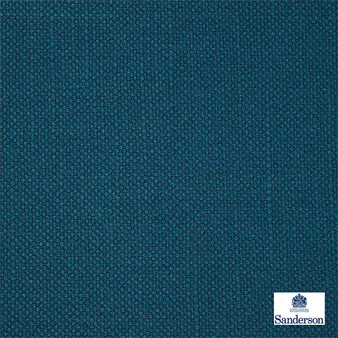 Sanderson Arley - 245800  | Upholstery Fabric - Washable, Blue, Cushion, Natural, Plain, Texture, Natural Fibre, Standard Width