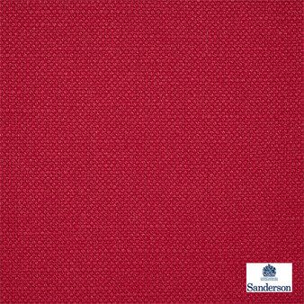 Sanderson Arley - 245819  | Upholstery Fabric - Washable, Red, Cushion, Natural, Plain, Texture, Natural Fibre, Standard Width
