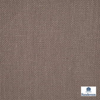 Sanderson Malbec - 246231  | Curtain & Upholstery fabric - Brown, Cushion, Natural, Plain, Natural Fibre, Standard Width