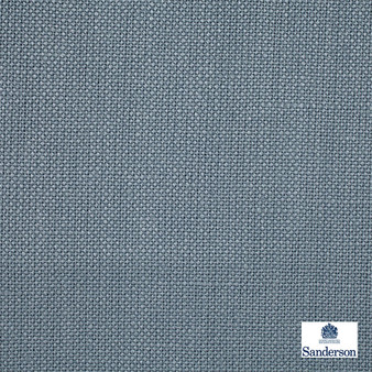Sanderson Malbec - 246244  | Curtain & Upholstery fabric - Blue, Cushion, Natural, Plain, Natural Fibre, Standard Width