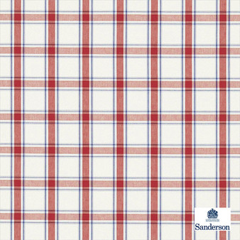 Sanderson Brighton - 234117  | Upholstery Fabric - Brown, Traditional, Cushion, Check, Natural, Plaid, Pattern, Natural Fibre, Standard Width
