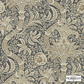 Morris & Co Indian - 216445  | Wallpaper, Wallcovering - Brown, Paisley