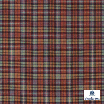Sanderson Fenton Check - 236742  | Upholstery Fabric - Brown, Traditional, Cushion, Natural, Plaid, Natural Fibre, Standard Width
