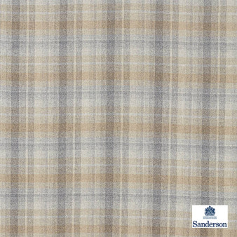 Sanderson Samphrey Check - 236746  | Upholstery Fabric - Beige, Cushion, Natural, Plaid, Natural Fibre, Standard Width