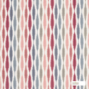 Scion Usuko - 120753  | Curtain & Upholstery fabric - Pink, Purple, Ikat, Cushion, Natural, Natural Fibre, Standard Width