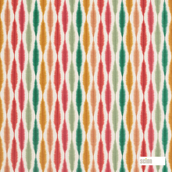 Scion Usuko - 120754  | Curtain & Upholstery fabric - Red, Ikat, Cushion, Natural, Natural Fibre, Standard Width