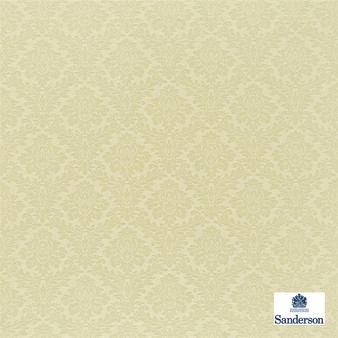Sanderson Lymington Damask - 232597  | Curtain & Upholstery fabric - Washable, Gold, Yellow, Cushion, Damask, Natural, Natural Fibre, Standard Width