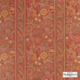 Morris & Co Wilhelmina Weave - 236849  | Curtain & Upholstery fabric - Orange, Stripe, Cushion, Standard Width