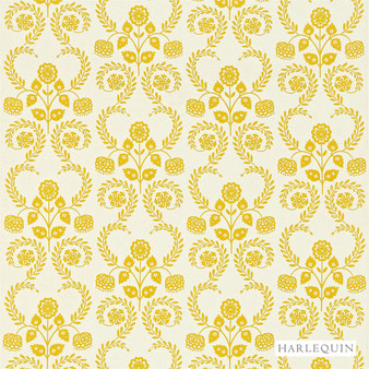 Harlequin Lucerne - 130339  | Curtain Fabric - Gold, Yellow, Floral, Garden, Botantical, Cushion, Fibre Blend, Standard Width