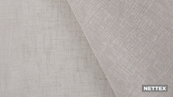 Nettex Bali VT524 - Smoke 330  | Curtain Sheer Fabric - Fire Retardant, Linen/Linen Look, Beige, Wide-Width, Plain