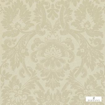 Zoffany Versailles ZCDW04013  | Wallpaper, Wallcovering - Fire Retardant, Beige, Traditional, Craftsman, Damask
