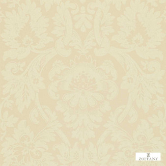 Zoffany Versailles ZCDW04014  | Wallpaper, Wallcovering - Fire Retardant, Beige, Traditional, Craftsman, Damask