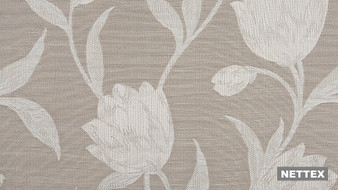 Nettex Toscania MG52 - Latte 137  | Curtain Fabric - Brown, Floral, Garden, Botantical, Standard Width